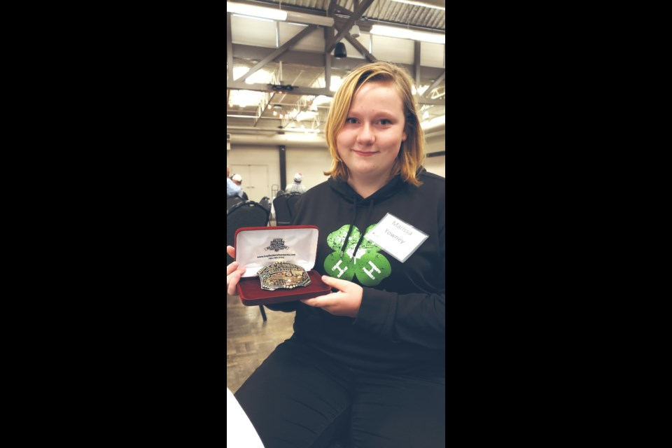 Colinton 4-H Multi Club member Marissa Yowney was named the 2021 4-H Alberta Steer Carcass Competition grand champion in Olds earlier this summer after the steer she raised was deemed to have the highest quality meat, among 85 other competitors from around the province.