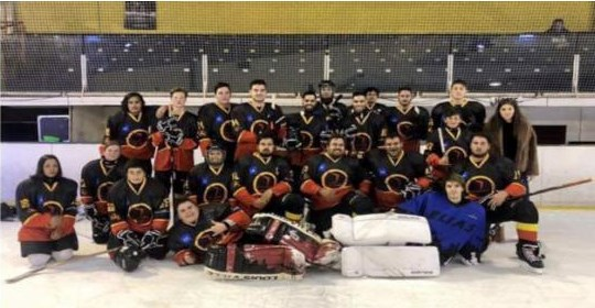 The Kaurna Boomerangs traveled from Adelaide, Australia to play an exhibition game in Calling Lake Jan. 13 as one part of their 10-day trip to Alberta.