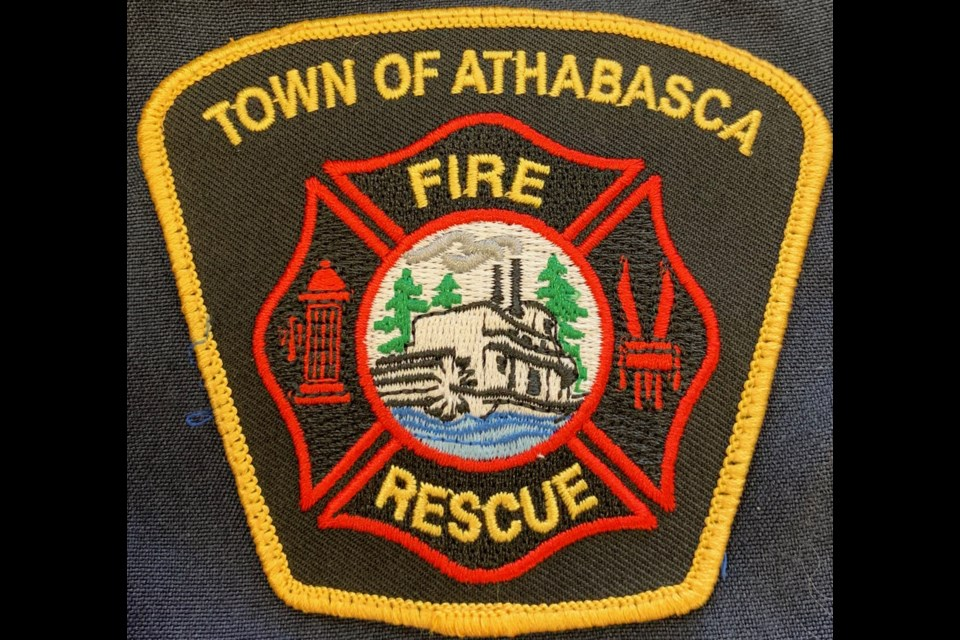 The Town of Athabasca fire department unveiled its new patch at the April 21 meeting with town council. Supplied