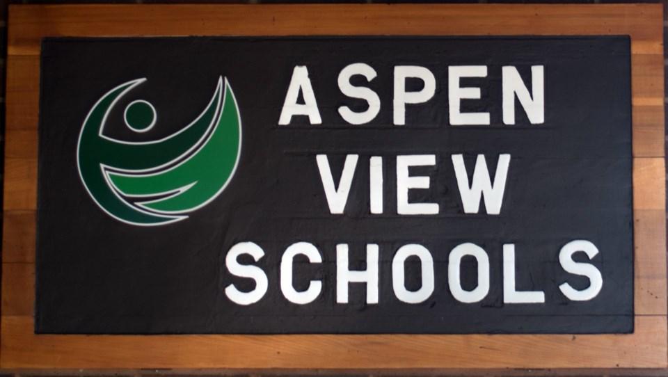 Aspen View School sign