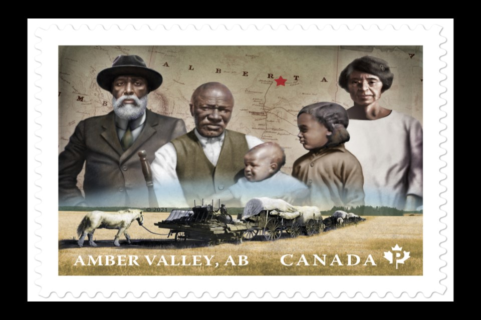 Canada Post is releasing a stamp Jan. 22 for Black History Month that showcases two Canadian Black communities, one in Halifax and this one for Amber Valley, just east of Athabasca.