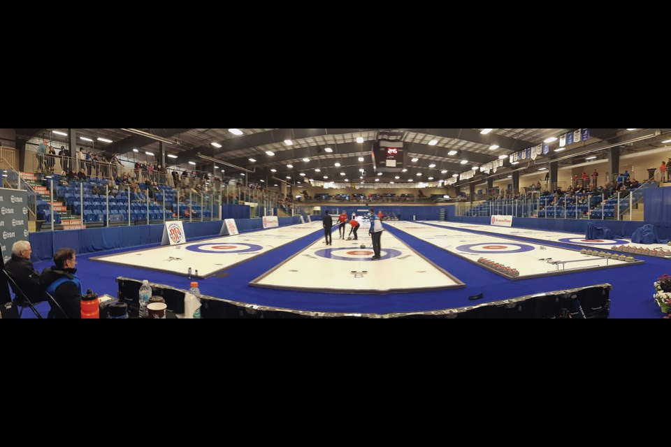 A panoramic shot of the Rotary Spirit Centre all dressed up for the 2020 BP Cup, which ran Feb. 5-9. Photos by Chris Zwick/WN