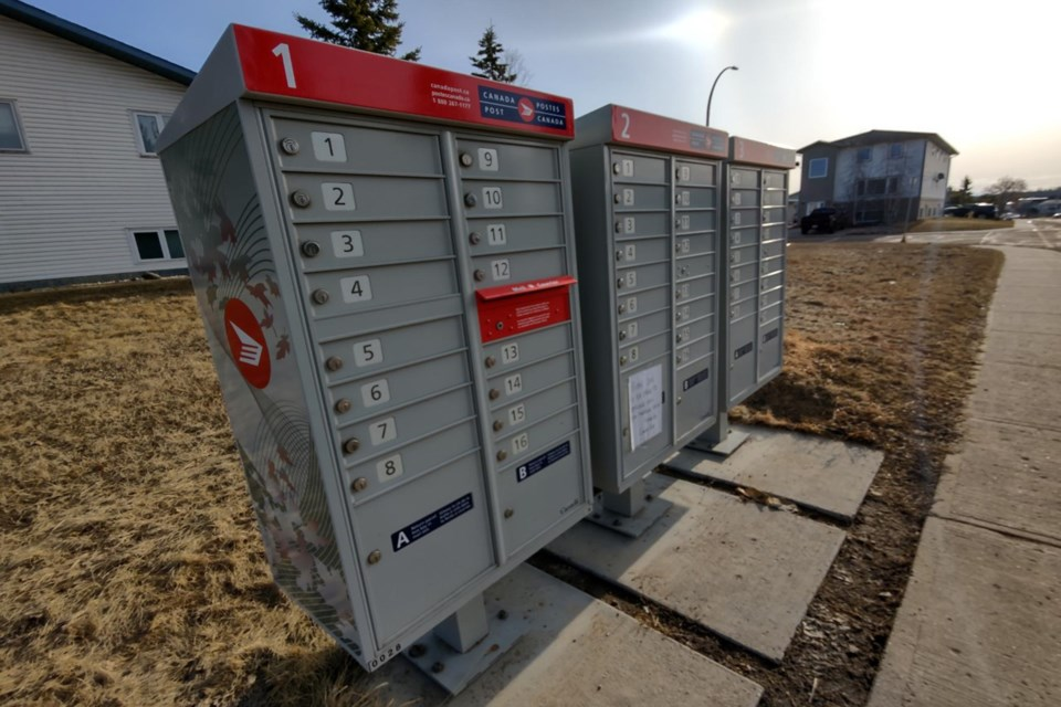 """One of Athabasca's regular Canada Post routes, servicing Cornwall, the East Hill, Wood Heights and the residential areas east of Main Street has been suspended """"indefinitely"""" and residents in those areas will have to bring ID to the post office to pick up their mail in-person until further notice."""