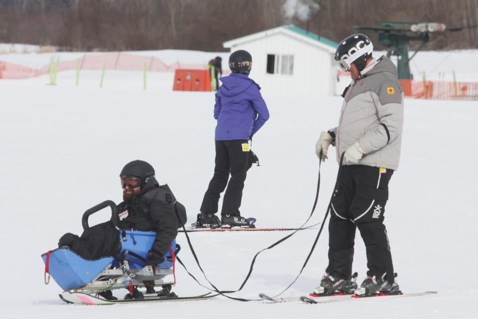 Disabled Skiers at Tawatinaw