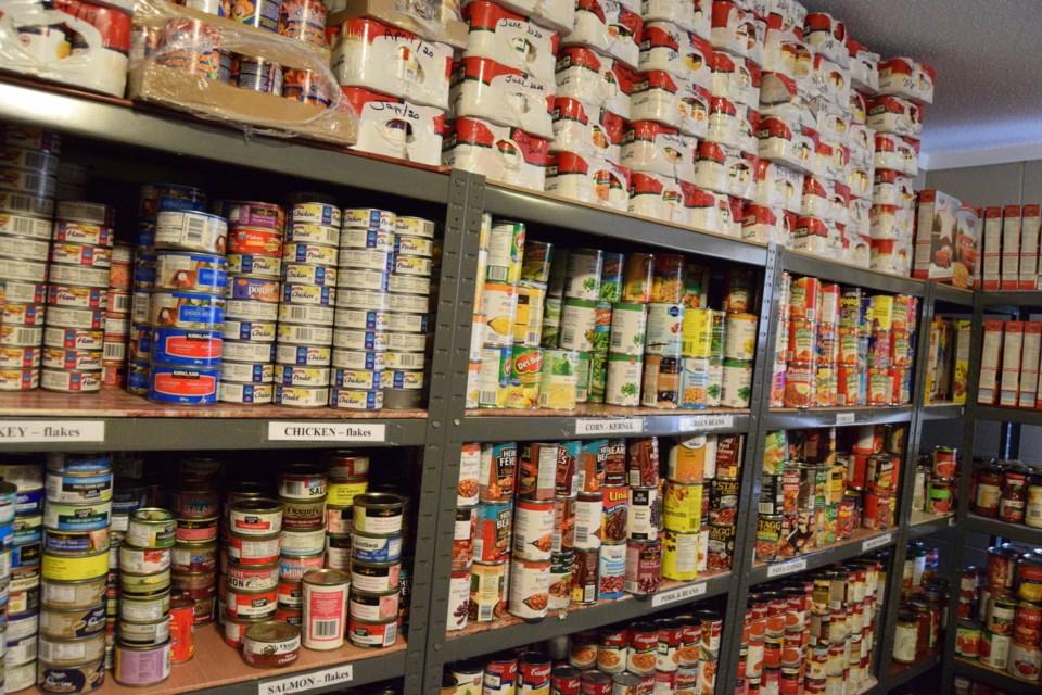 Food Bank shelves Barrhead file pic copy