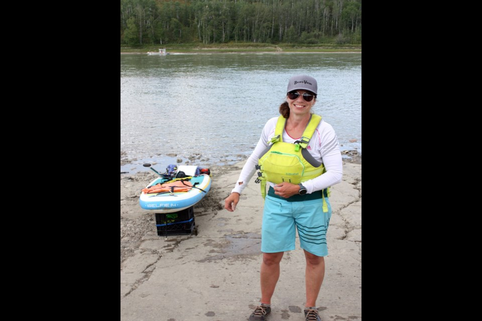 Lisa Stocking's fundraising paddle boarding trek from Jasper to Athabasca for mental health and suicide awareness finished up Aug. 19 after 10 days on the Athabasca River.