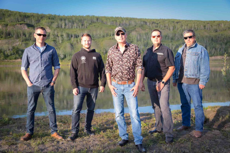 Athabasca's Magnificent River Rats Festival is a go for July 1, and will be free of COVID restrictions and crowd limits. The Richard Woodman Band (L-R, William O'Donnell, Tanner Mouallem, Richard Woodman, Blaine Gullion and Phil Willier) will take to the stage at 4:30 p.m., but O'Donnell will open the festival at 11:30 a.m. with a solo performance.