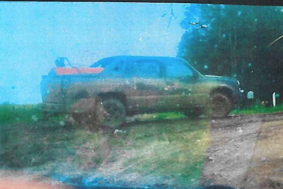 These two vehicles were recently spotted at a well site near Tiger Lily on July 9. One of the vehicles, a black or dark gray Chevy Avalanche, was also involved in a fuel theft in the Dunstable area. The Barrhead RCMP are asking for the public's assistance in locating these vehicles or their occupants. If you have any helpful information, contact the detachment at (780) 674-2696.