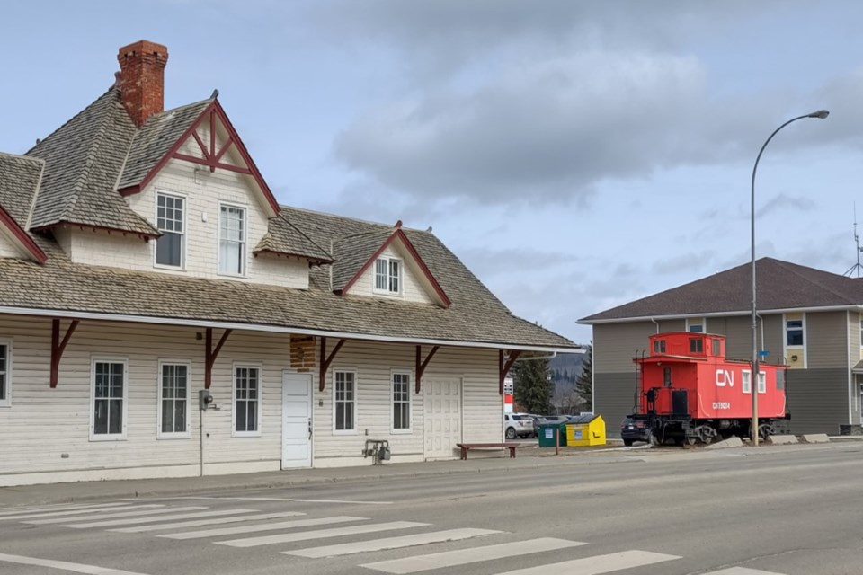 Train station and Caboose