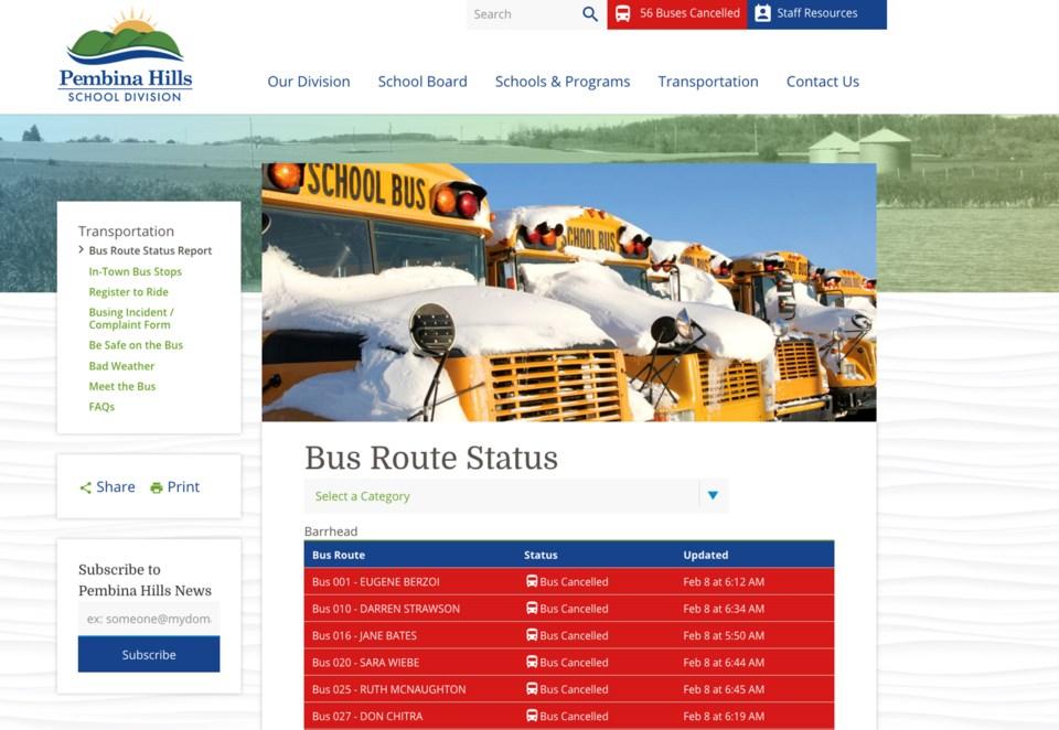 wes bus routes