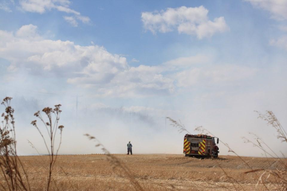 Grass fire hwy 18 1