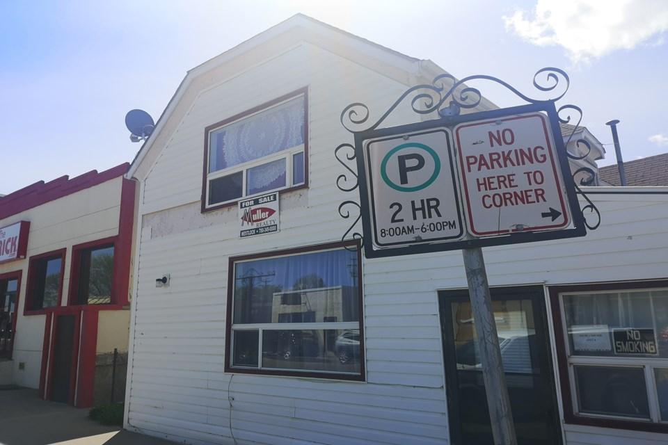 WES parking sign