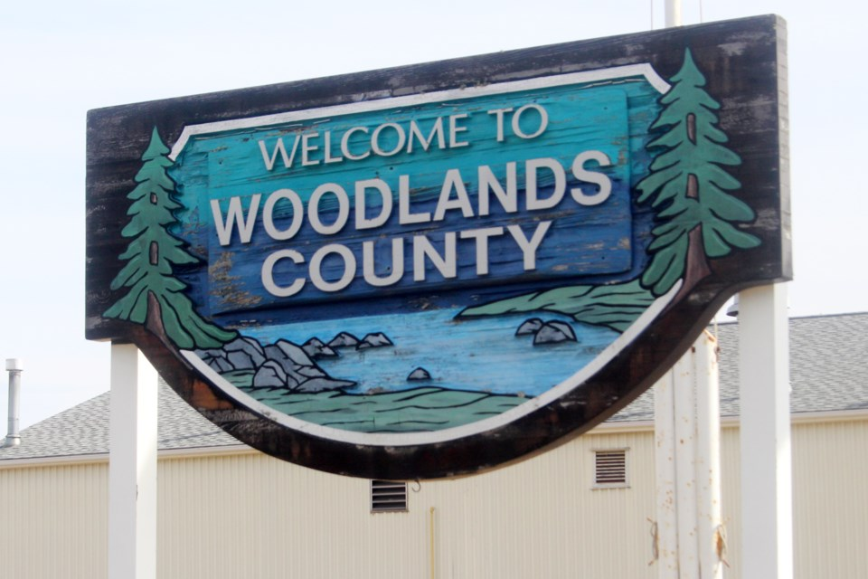 Woodlands County Sign