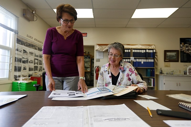 As Athabasca archivist Marilyn Mol (left) retires, Gina Payzant is getting ready to step into the position.
