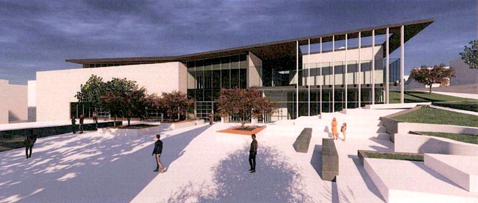 An artist's rendering of the new Place Maillardville community centre, due to open in 2022.