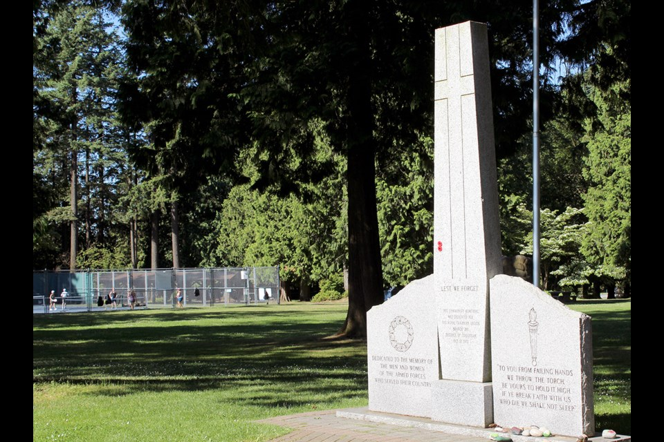 The Coquitlam cenotaph could be moved to the centre of Blue Mountain Park to accommodate larger crowds on Remembrance Day, under a master plan proposed by the city of Coquitlam.