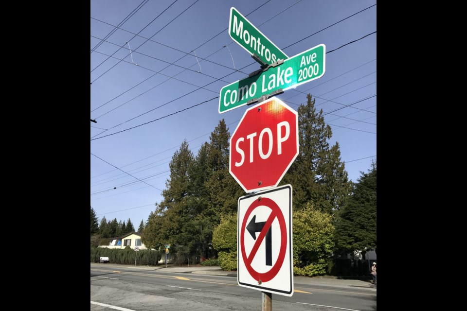 Como Lake Avenue at Montrose Street in Coquitlam will soon have a traffic light.