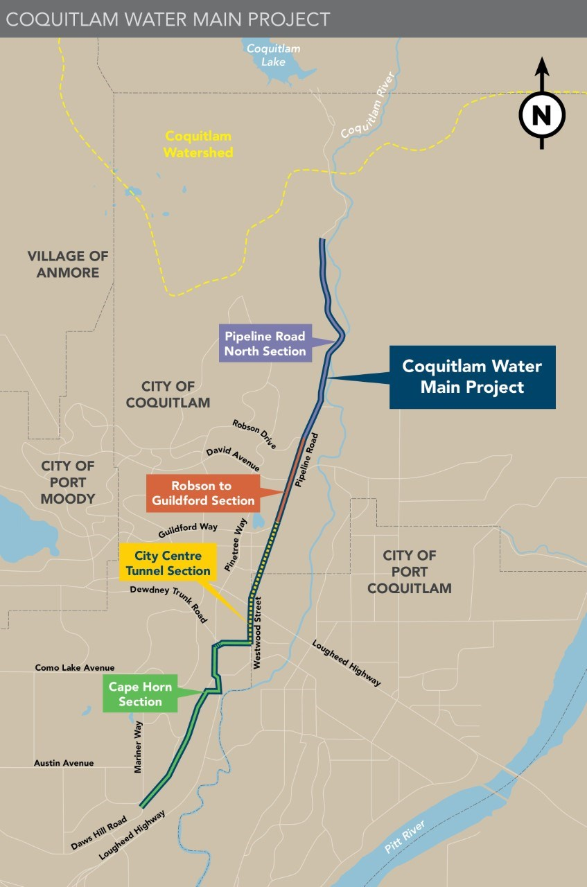 Coquitlam Main Water Project - 30 Jun 2021