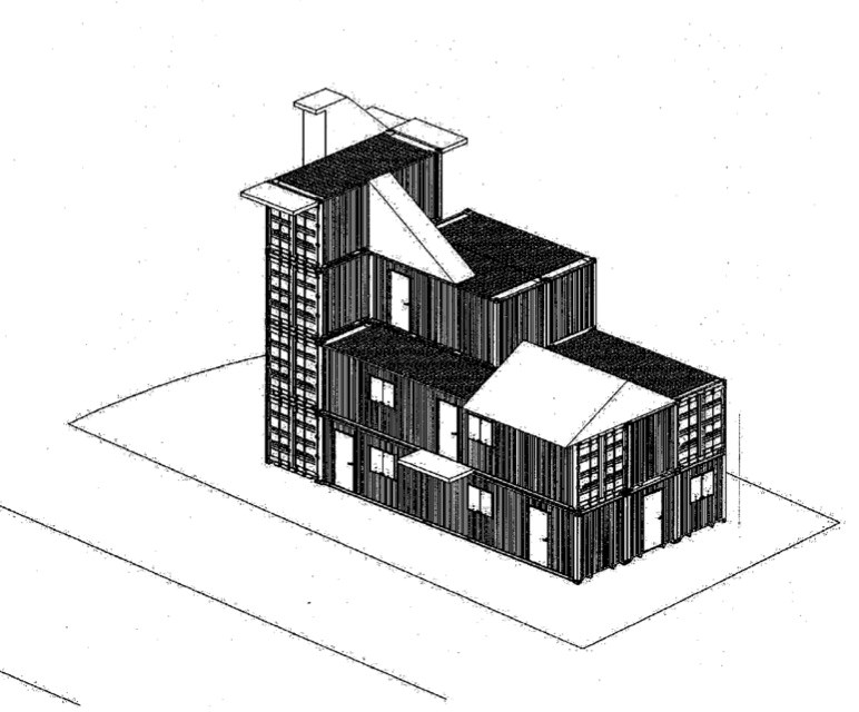 A rendering of the new training centre at the Coquitlam Firehall 1.
