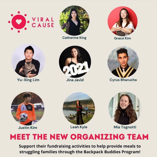 The poster for Viral Cause, featuring the ConX students at Coquitlam's Gleneagle secondary school.