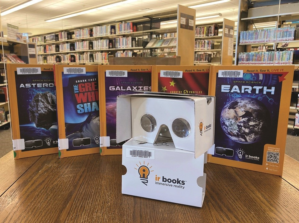 IR Books and headset - Coquitlam Public Library
