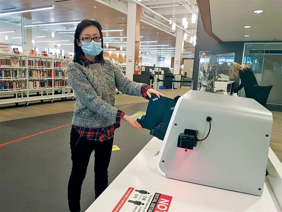 Lendable Laptops kiosk
