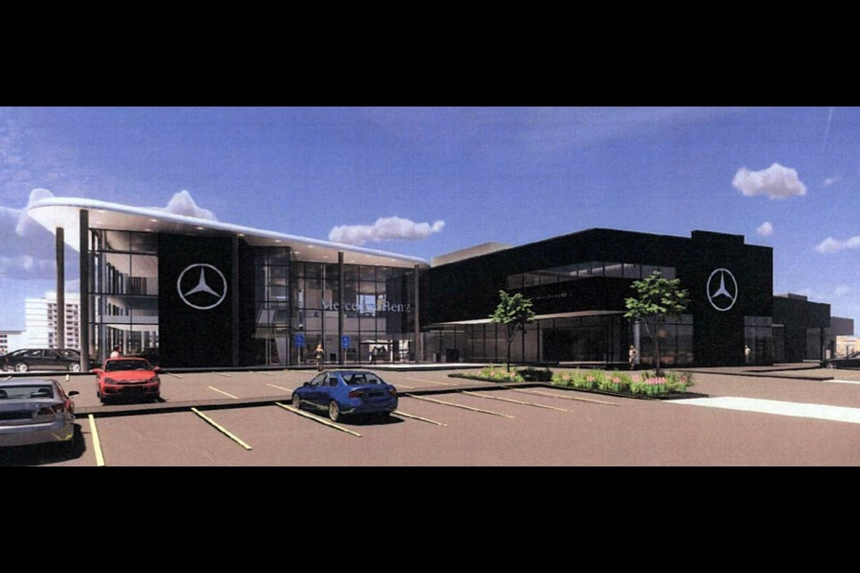 Mercedes Benz plans a dealership in south Coquitlam.