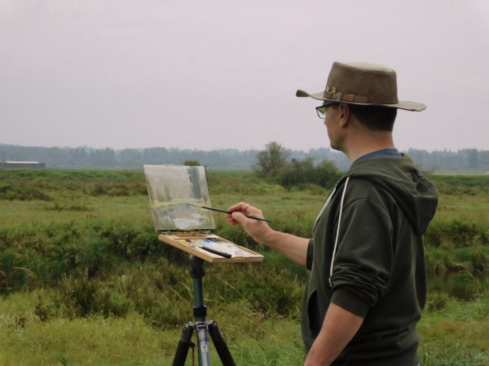 Michael King Painting Pitt Meadows Dyke 01