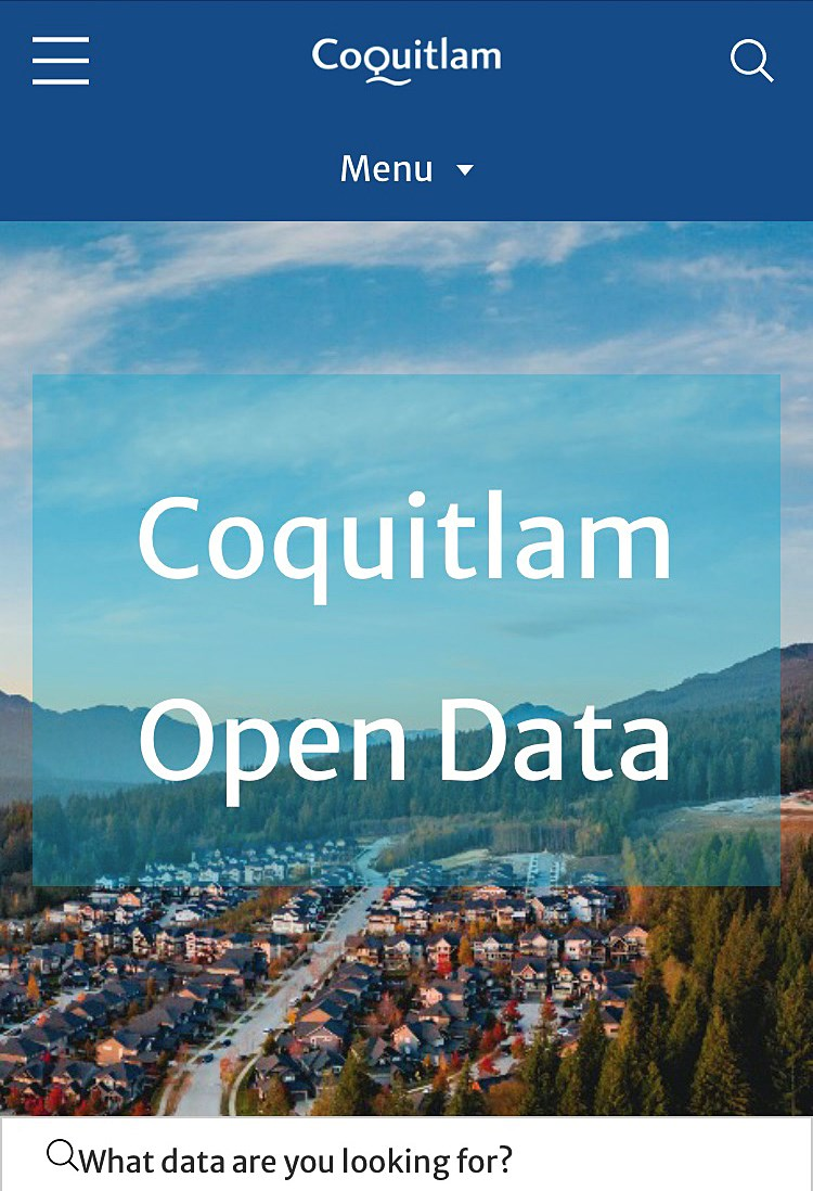 open data screen shot