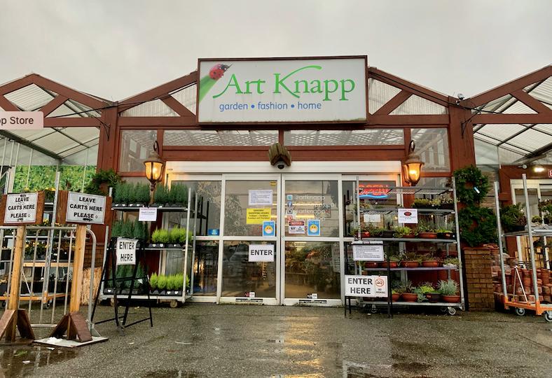 Art Knapp nursery closed down in Port Coquitlam in 2020.