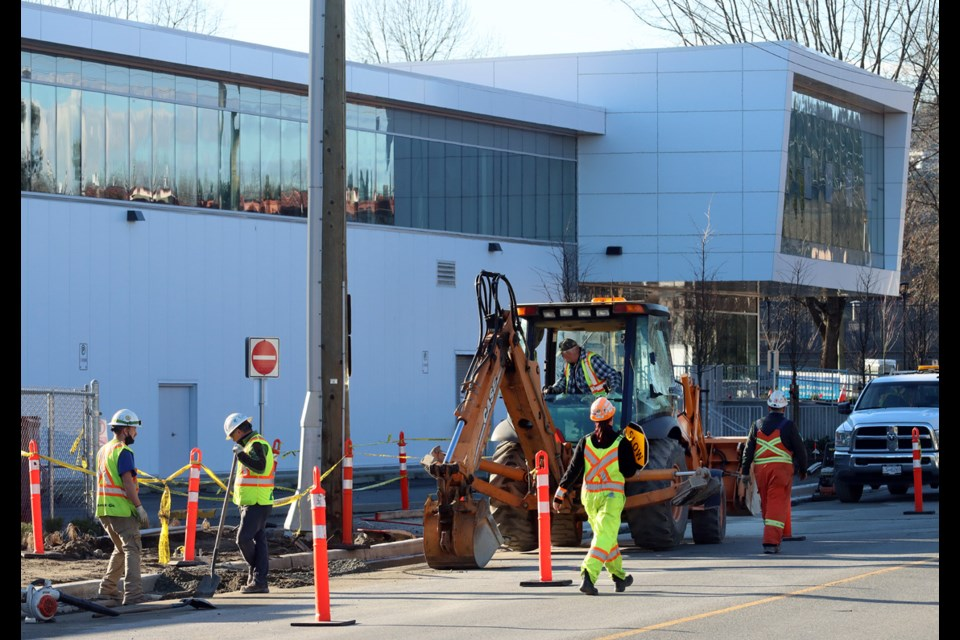 Ongoing construction around the new Port Coquitlam community centre is creating a shortage of parking at the facility.