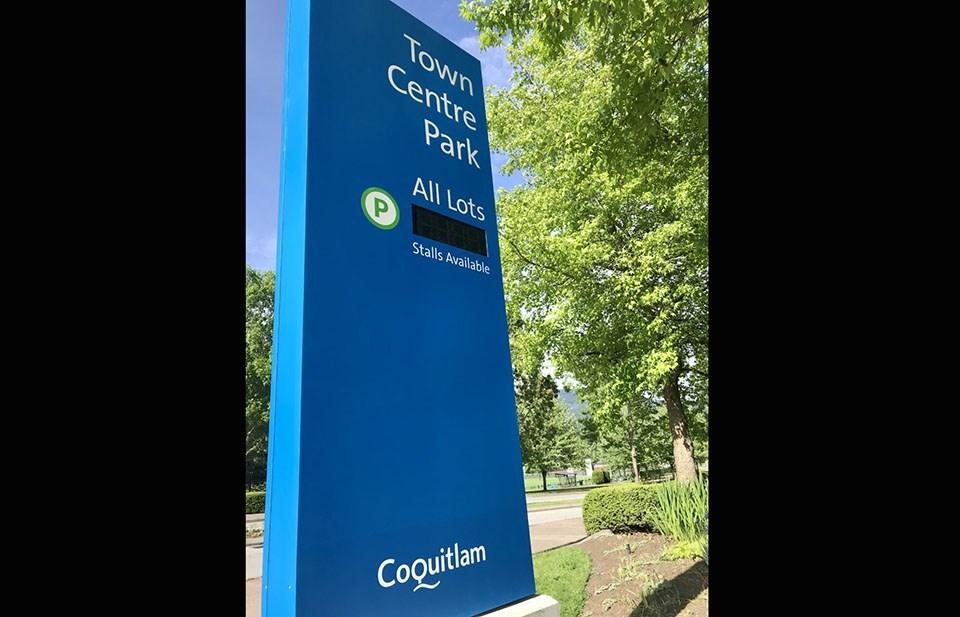 Coquitlam Town Centre Park digital signs - June 9, 2021