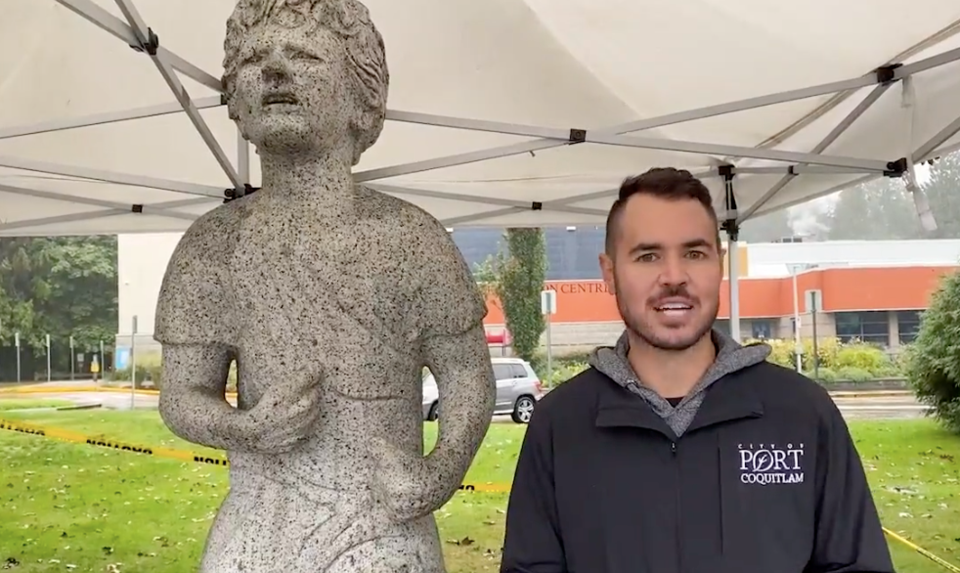 Terry Fox statue and Brad West