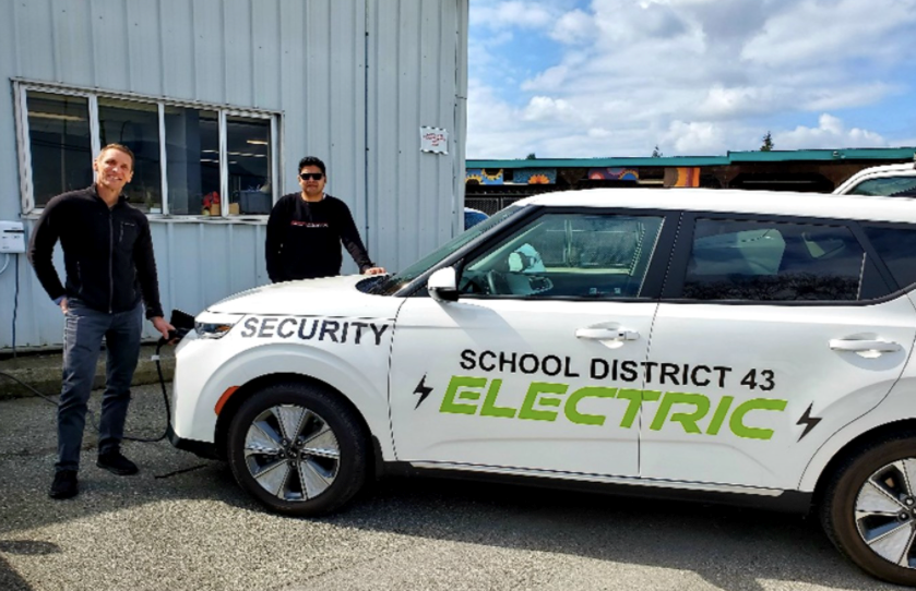 School District 43 electric car plug in BC