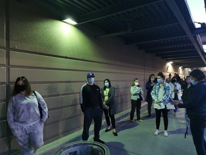 Teachers Line up for Shots Twitter