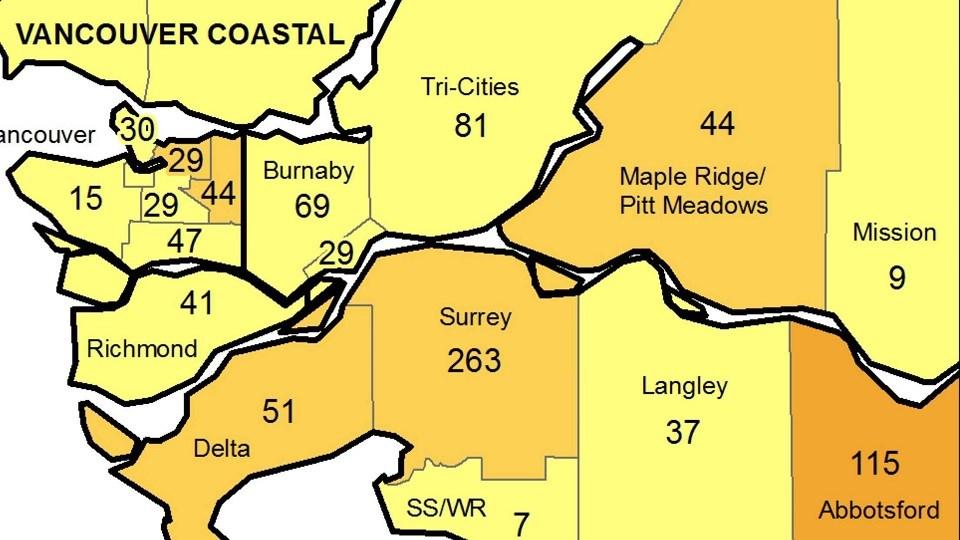 BCCDC local health area Tri-Cities - June 11, 2021