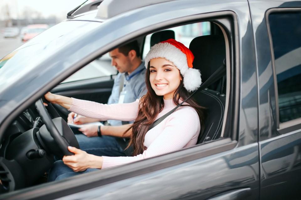 Christmas car trip