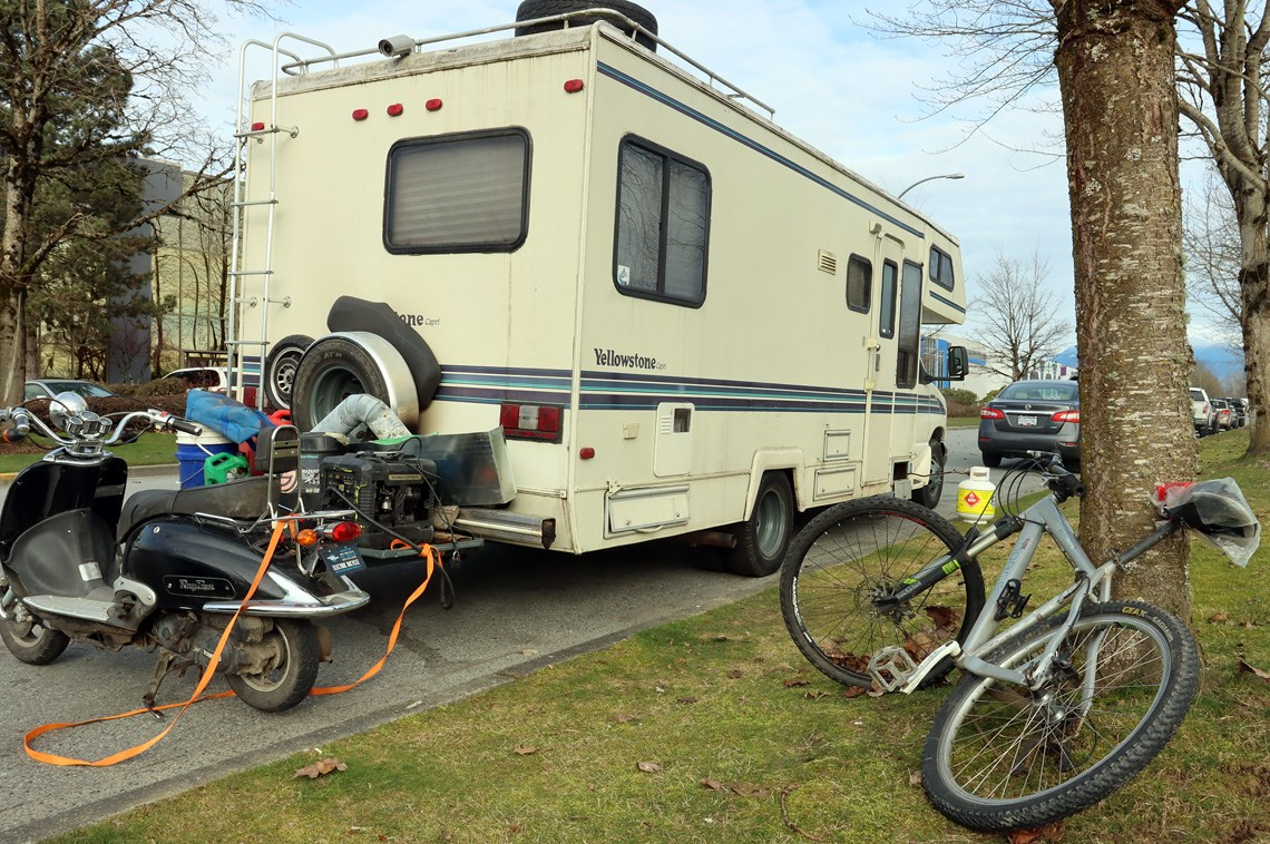 Long-term parkers curbed as Port Coquitlam seeks to stop people from living in RVs on city streets