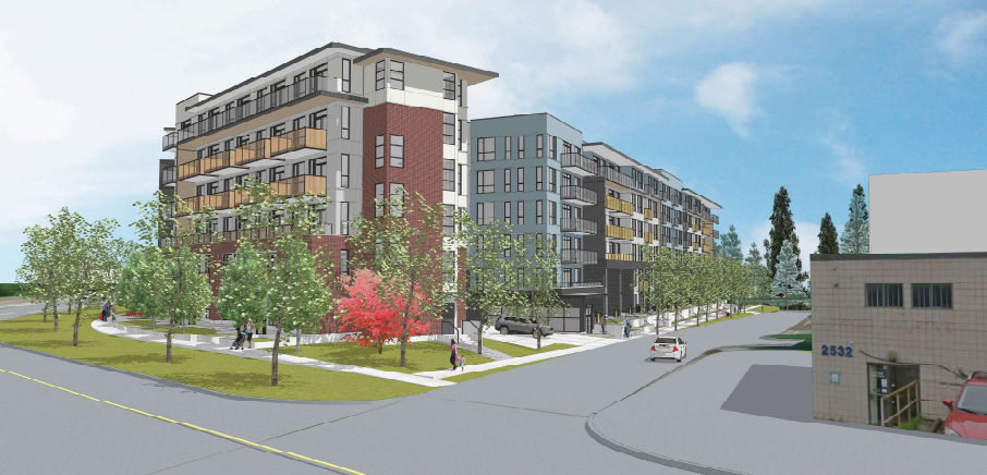 Kingsway affordable housing in Port Coquitlam