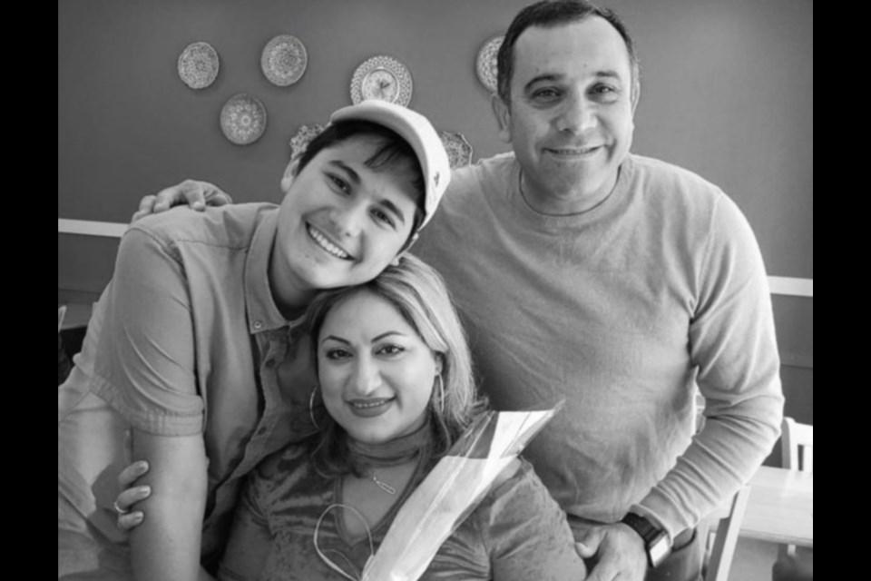 Niloofar Razzaghi, her husband Ardalan Ebnoddin-Hamidi and their 15-year-old son, Kamyar Ebnoddin-Hamidi of Port Coquitlam were among 176 people killed aboard Ukraine International Airlines Flight PS752 when the Iranian military shot down the plane shortly after takeoff from Tehran on Jan. 8, 2020