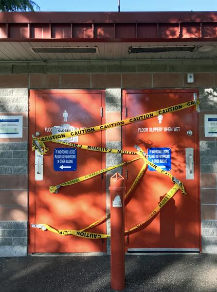 Coquitlam park washroom shut due to arson Janis Cleugh photo