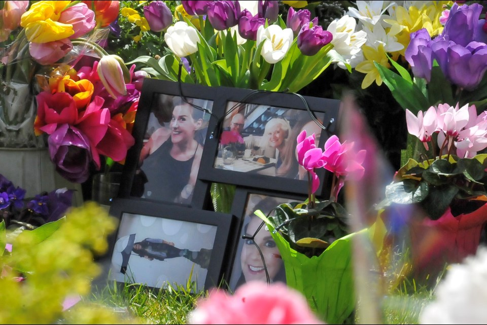 An impromptu memorial for Trina Hunt at her Heritage Mountain home has sprung up in the days since police revealed her body had been recovered in Silver Creek area of Hope.