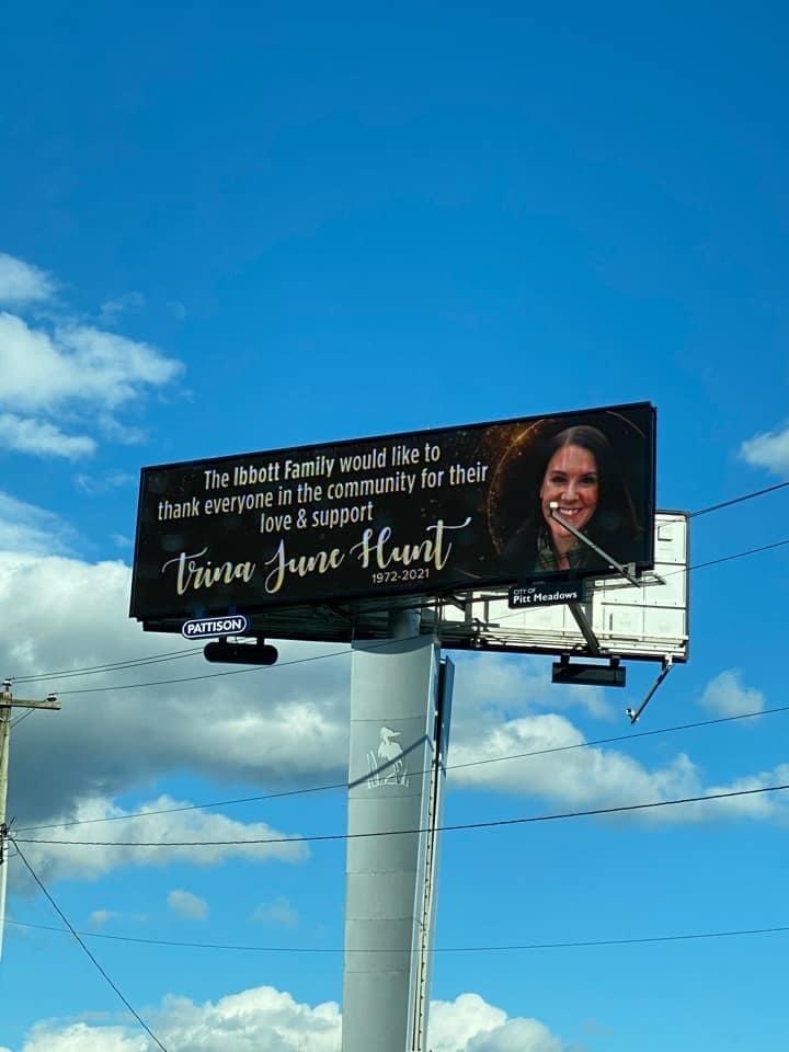 Trina Hunt sign