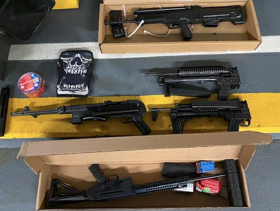 Gun, phone left in unlocked car at Coquitlam mall leads to arrests, seizure of several weapons