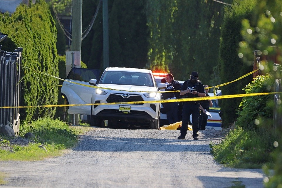 Coquitlam RCMP investigate a fatal shooting in the Maillardville area on May 22, 2021.