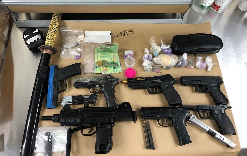Surrey RCMP firearms fentanyl Port Coquitlam