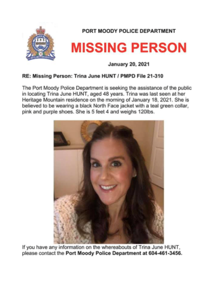 Trina Hunt Missing Person Poster