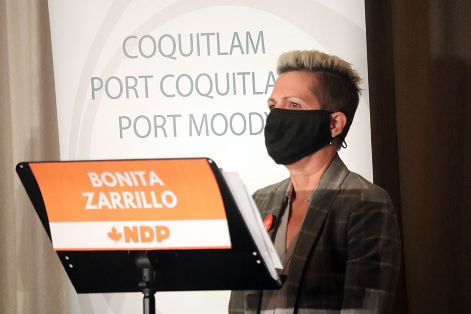 Bonita Zarrillo is the Port Moody-Coquitlam NDP candidate for the 2021 federal election.