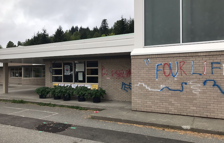 Panorma school vandalism submitted photo