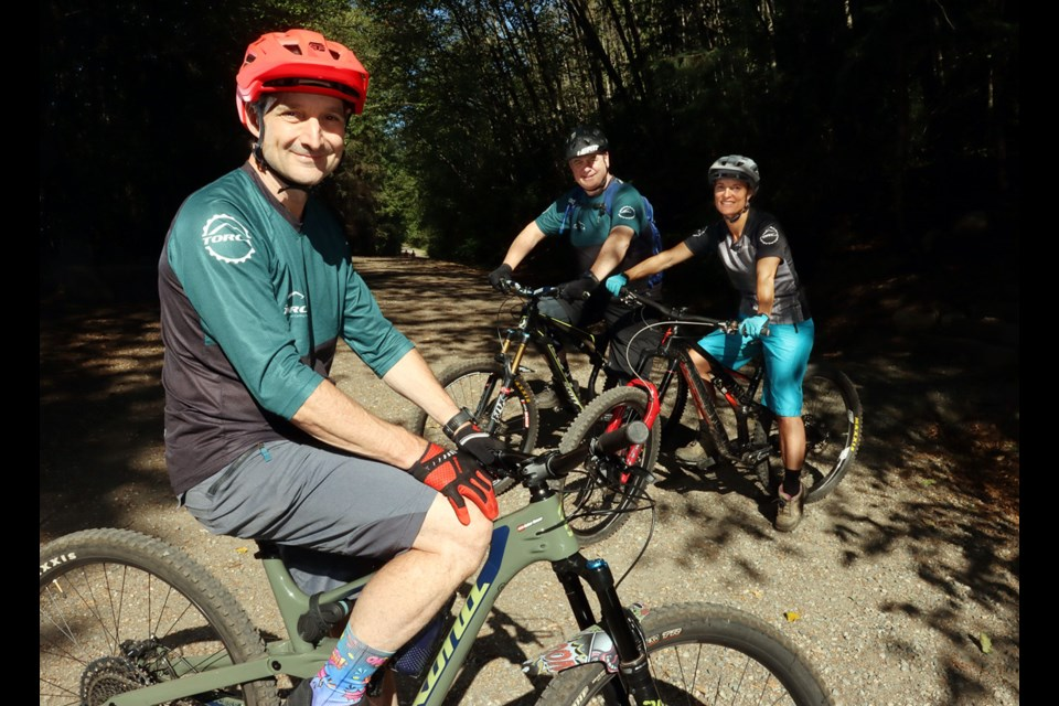 Gabor Huszar, Wes Sawchuk and Karaleen Gioia are directors of TORCA; they say use of trails in the areas like Bert Flinn Park, as well as Burke and Heritage mountains, has exploded during the pandemic.